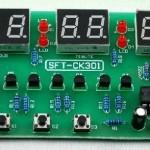 Relógio digital eletrónico com várias funções