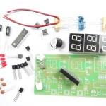 Relógio digital eletrónico com várias funções em Kit DIY