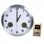 Relógio de parede com indicação de temperaturas