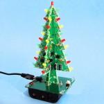Árvore de natal eletrônica com leds já montada