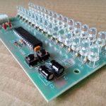 Placa VU para som ajustável com LEDs verdes
