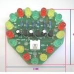 Coração eletrónico com Leds