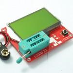 Multiteste com LCD menor para componentes eletrónicos